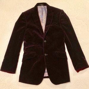 Ted Baker London Velvet Burgundy/Dark Red Jacket 3